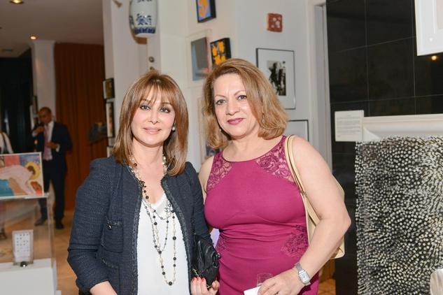 14 Farzaneh Sameri, left, and Shazi Farahani at the Christofle event June 2014