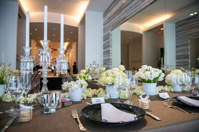 11 A table setting at the Elie Saab luncheon December 2014