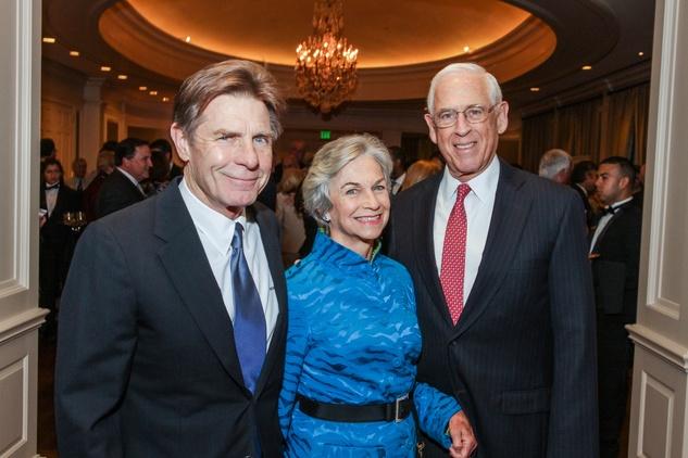 Mack Fowler, from left, with Anne Mendelsohn and Dr. John Mendelsohn at the Center for Houston's Future dinner November 2014