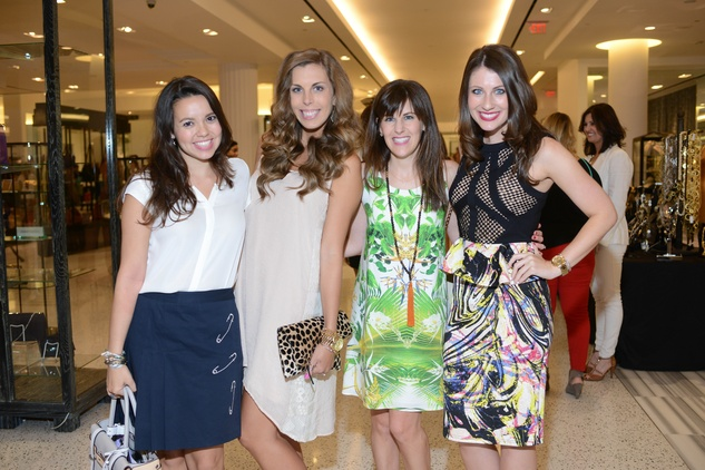 11 Alexandra Carreno, from left, Kate Blue, Lauren Mills and Brittany Boone at the WOW Summer Soiree August 2014