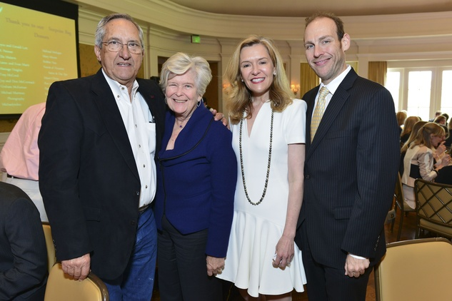 Joe and Diana Mattingly, from left, with Katie and A.J. Brass at the On the Move luncheon March 2014.