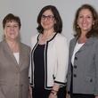 Karen Westall, from left, Mindy Davis and Emily Deakins at the ADL Jurisprudence Award kick-off April 2015