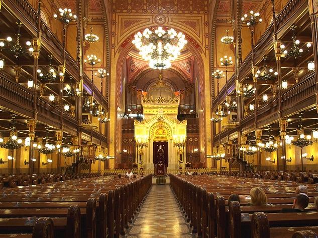Dohany Street Synagogue Budapest Hungary interior