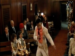 Melanie Damrell, Peter Traber, Elvis impersonator,wedding