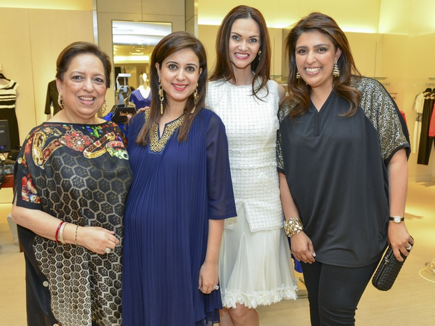 16 Komal Oberoi, from left, Noor Oberoi, Gabriella Dror and Nidhika Mehta at the International Mother's Day Soiree May 2014