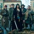 Said Taghmaoui, Chris Pine, Gal Gadot, Eugene Brave Rock, and Ewen Bremner in Wonder Woman
