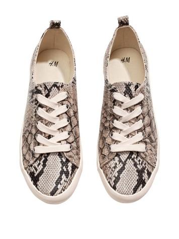 h&m snakeskin sneakers