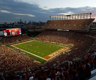 Darrell K Royal-Texas Memorial Stadium at night football Longhorns