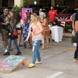 Guest playing corn hole toss