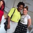 Yolanda Washington and Bee Mandleberg at Amir Taghi show at New York fashion week