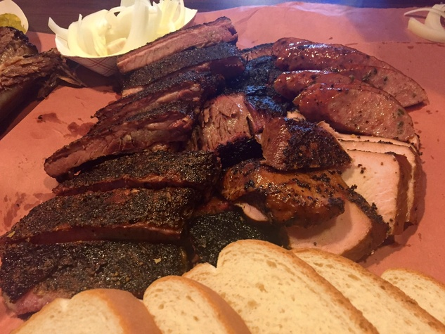 Brisket House barbecue platter