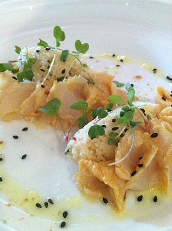 Lionfish dish at Haven restaurant in Houston