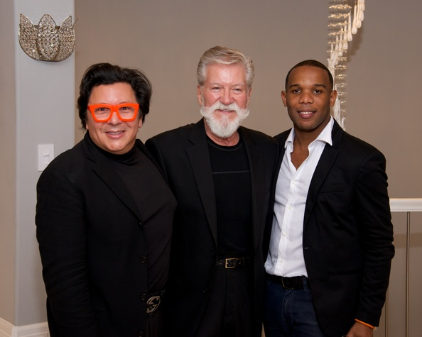 16 J. Michael Soliz, from left, Michael Pilie and Patrick Bell at Theresa Roemer first charity closet party November 2014