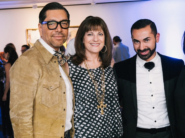 26 Ceron, from left, Ellie Francisco and Fady Armanious at CultureMap fifth anniversary birthday party October 2014