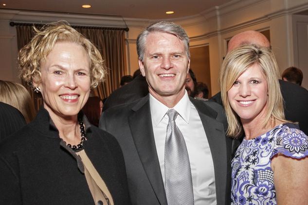 Ann Kennedy, from left, Stephen Howe and Alicia Blaszak at the Cornerstone Dinner February 2015jpg