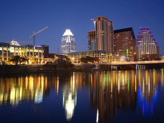 Austin skyline city buildings