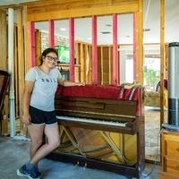 Houston, Teenage pianist faces Harvey, September 2017