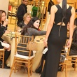 Roland Mouret fashion show, Neiman Marcus, December 2012, black gown, Alissa Maples