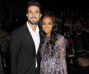 Bryan Absolo, Rachel Lindsay at Badgley Mischka horizontal crop