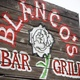 Blanco's Bar & Grill, sign