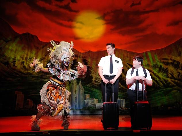 4 The Book of Mormon at the Hobby Center September 2013 Phyre Hawkins, Mark Evans Christopher John O'Neill