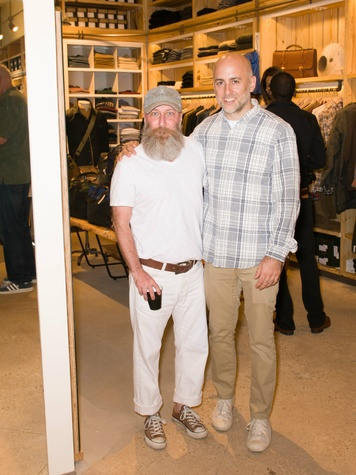 Chris Brown and Steven Alan at Steven Alan store opening in Dallas
