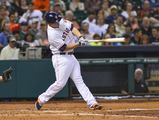 Matt Dominguez Astros swing