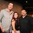 Bosscat Kitchen owners John Reed, Leslie Nguyen, Vinnie Capizzi at Super Bowl party