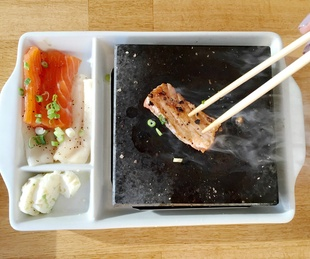 Pacific Rim Sushi & Yakitori Lounge Austin restaurant Japanese hot rock dinner