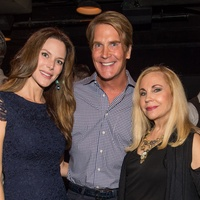 Brenda Jones, from left, George Lancaster and Carolyn Farb at George Lancaster's birthday bash October 2013