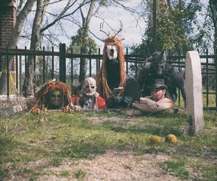 Reindeer Manor Halloween Park in Red Oak