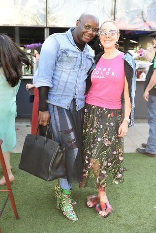 Josh Johnson, Sheree Frede at More Color Please launch