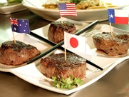 Killen&#39;s Steakhouse Kobe beef with flags
