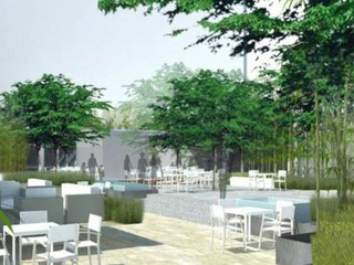 Rendering of Plaza of the Americas in Dallas