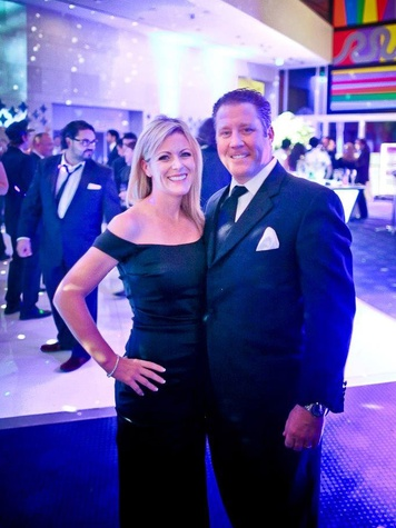 Patty and Eric Evans at Bering Omega's Sing for Hope after-party