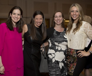 2 Christina Altenau, from left, Sarah Snyder, Shannon Wiesedeppe and Megan Hotze at Bo's Place luncheon February 2015