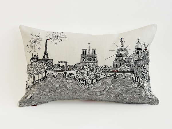 Fab Find, Charlene Mullen, Paris Calling, small cushion
