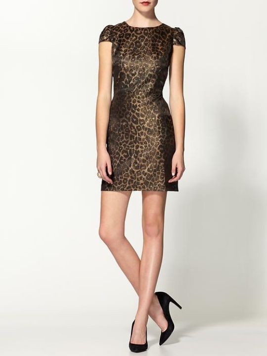 piperlime animal brocade mini dress