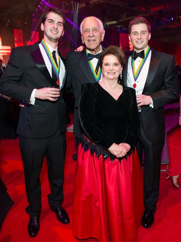 28 Michael Fertitta, from left, Vic and Joy Fertitta and Patrick Fertitta at the San Luis Salute February 2015