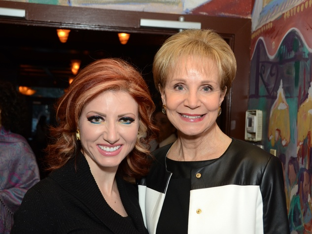7 Yasmine Haddad, left, and Leisa Holland Nelson at the Fox 26 RoundUP Launch February 2014