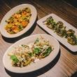 18 Dine Around Houston at Batanga September 2013 food appetizers artichokes, mini tacos chalupas
