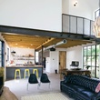 Austin home house Houzz DIY modern Texas farmhouse Garden St living room kitchen
