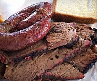 Brisket and sausage at Lockhart Smokehouse in Dallas