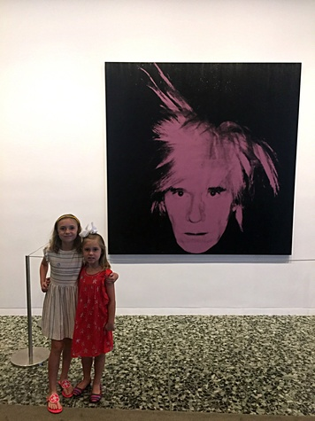Two little girls at Museum of Fine Art Houston