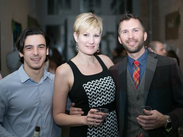 Luke Shapiro, Kristy Blackmon, Ryan Plesko at Unbranded final happy hour