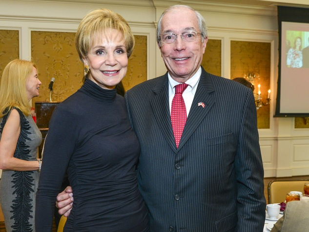 16 Leisa Holland Nelson and John Nau at the Fashion Retailers luncheon October 2013