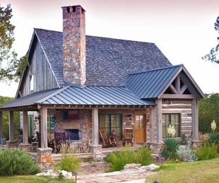 Houzz rustic Texas cabin