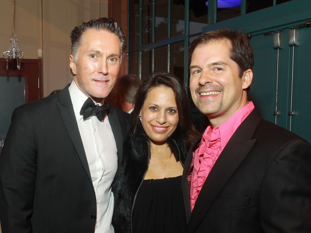 Stages Repertory Theatre gala, April 2013, Greg Fourticq, from left, Tami Dias and Michael Landrum
