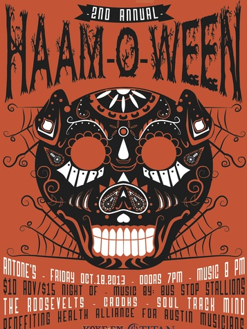 cropped poster for second annual Haam-o-ween bash