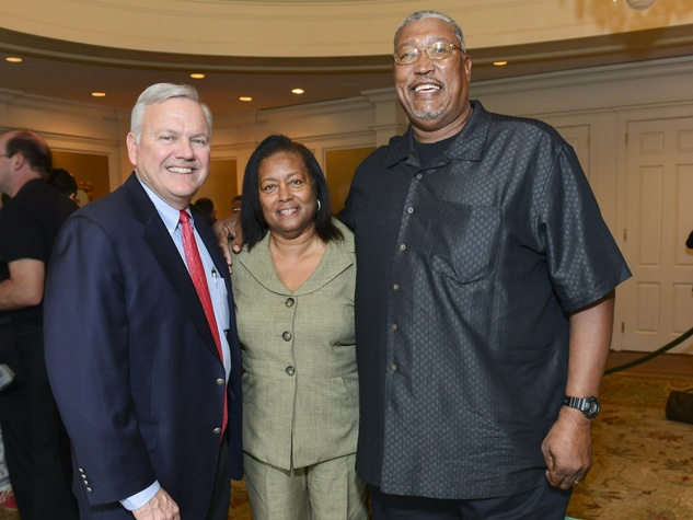 1 John Havens, from left, with Lula and J.R. Richard at the I Am Waters Luncheon April 2014